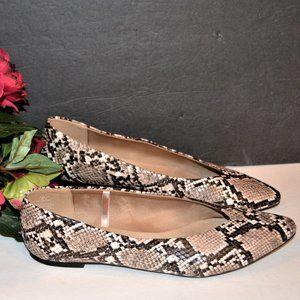 NEW Python Print Ballet Flats Points Shoes Women 8